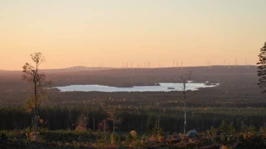 This visualisation, from Svevind, depicts the Markbygden ETT wind farm in northern Sweden.