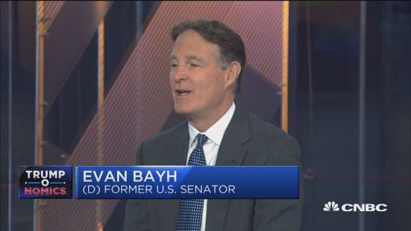 Evan Bayh: 90% chance House signs tax bill but Senate likely slow things down