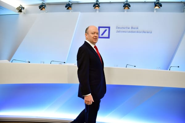 John Cryan, CEO of Deutsche Bank