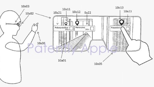 Apple-owned patent filed by Metaio