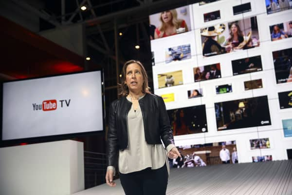 Susan Wojcicki, chief executive officer of YouTube Inc., introduces the company's new television subscription service.