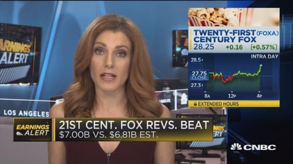 21st Century Fox revenues beat