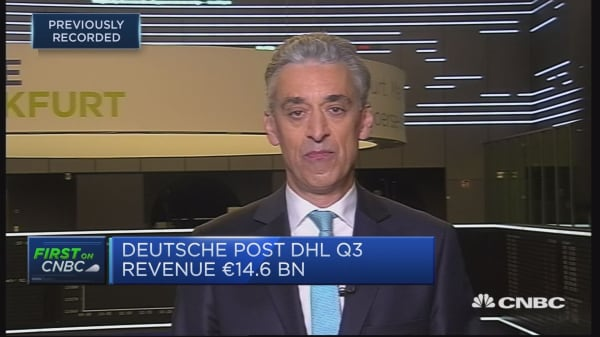 Deutsche Post DHL 'very pleased' with results, CEO says