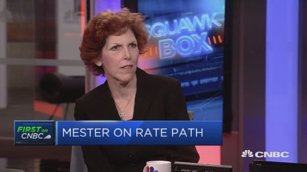 Fed's Mester: Path of inflation gradually moving upward