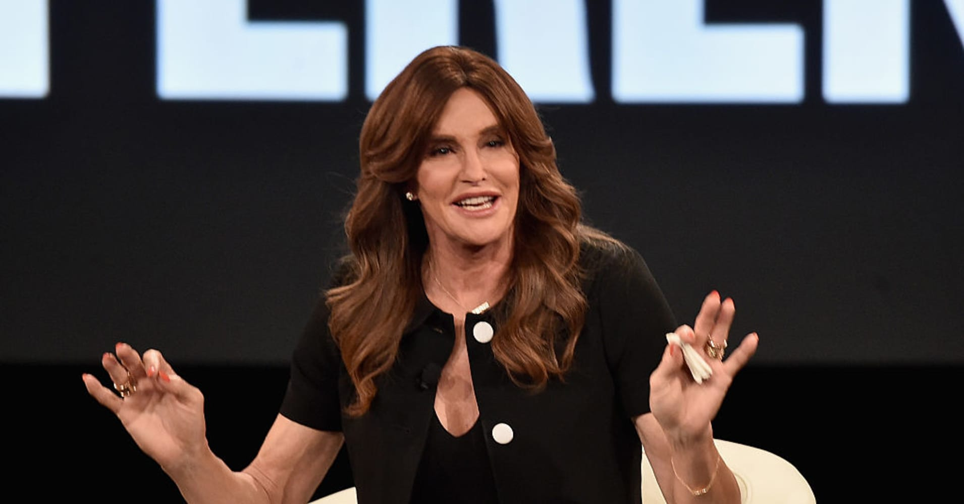 Executive Producer Caitlyn Jenner speaks at the AOL 2016 MAKERS conference at Terranea Resort on February 2, 2016 i