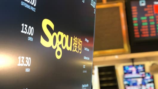 Shares in Chinese search engine Sogou remain flat after NYSE debut