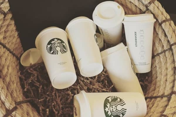 Starbucks Reusable Travel Coffee Cup To Go , 16 Ounce Grande.
