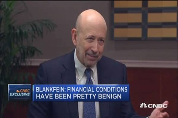 Lloyd Blankfein: We're trying to cause inflation