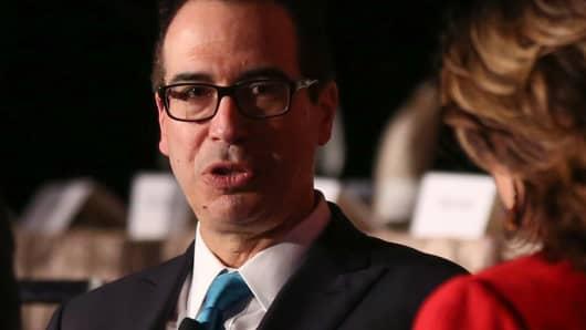 Steve Mnuchin, U.S. Treasury Secretary, speaking at the New York Economic Club on Nov. 9th, 2017.
