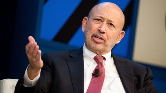 Lloyd Blankfein, chairman and chief executive officer of Goldman Sachs Group