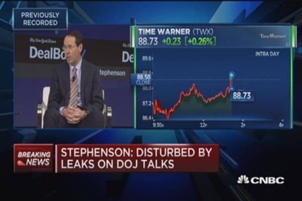 AT&T CEO Randall Stephenson: 'I have never been told that the price of getting a deal done was selling CNN'