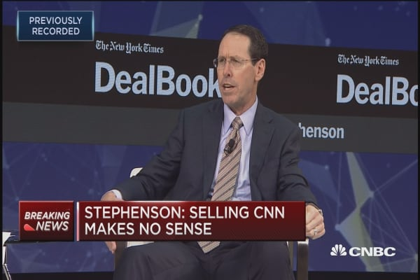 AT&T CEO Randal Stephenson: Sale of CNN never came up with Department of Justice