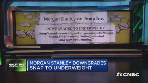 Morgan Stanley cuts Snap to