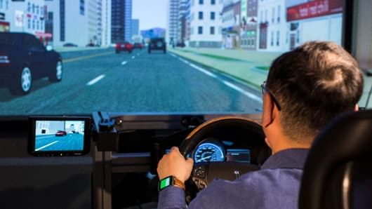 At Ford's new wearables research laboratory, scientists and engineers are working to integrate wearable devices and vehicles to enable driver-assist technologies to be more aware of the driver behind the wheel, particularly when that driver is stressed or sleepy.