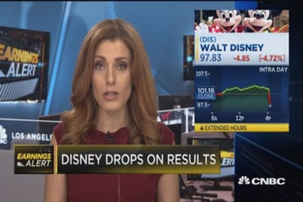 Disney earnings miss on top and bottom