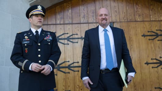 Jim Cramer on the campus of West Point on Nov. 9th, 2017.
