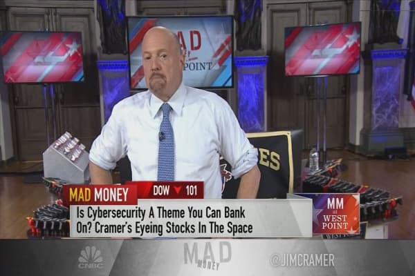 Cramer lists his top cybersecurity stock picks, including the struggling Palo Alto Networks