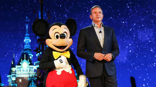 Robert A. Iger, Chairman and Chief Executive Officer of The Walt Disney Company, attends the unveiling ceremony of six themed parks of Shanghai Disney Resort at Shanghai Expo Center on July 15, 2015 in Shanghai, China.