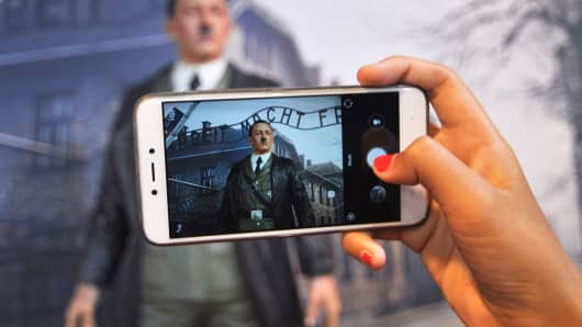 Adolf Hitler selfie wax figure display removed after sparking outrage