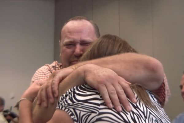 Krytzer was brought to tears once the price of his blanket crossed the $1 million threshold at auction.