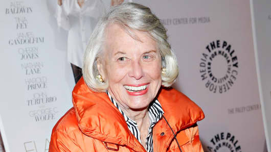 Journalist Liz Smith attends the 'Elaine Stritch: Shoot Me' screening at Paley Center For Media on February 19, 2014 in New York City.