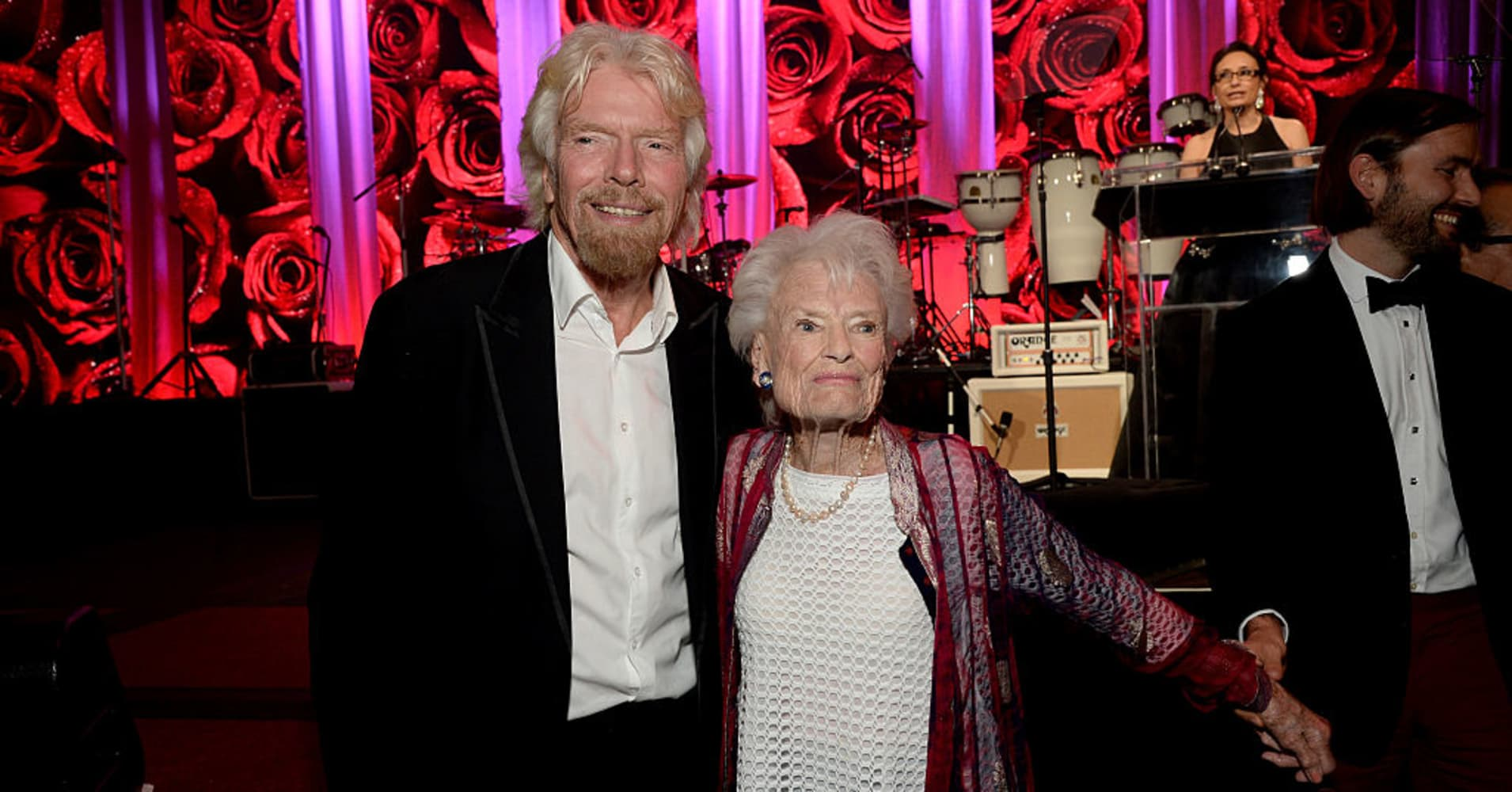 Richard Branson and his mother, Eve Branson, attend the AltaMed Power Up, We Are The Future Gala at the Beverly Wilshire Four Seasons Hotel on May 12, 2016