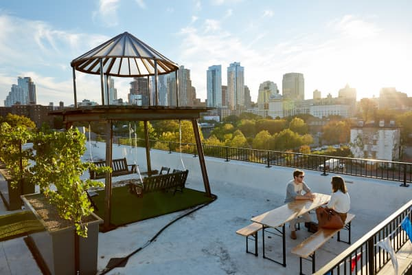 Brooklyn-based Rooftop Reds plans to become the first premium vineyard to grow its own grapes on a roof. While waiting for its first bottles to be ready in 2019, it is generating revenue through a rooftop tasting room that features wine with grapes sourced from other New York State regions.