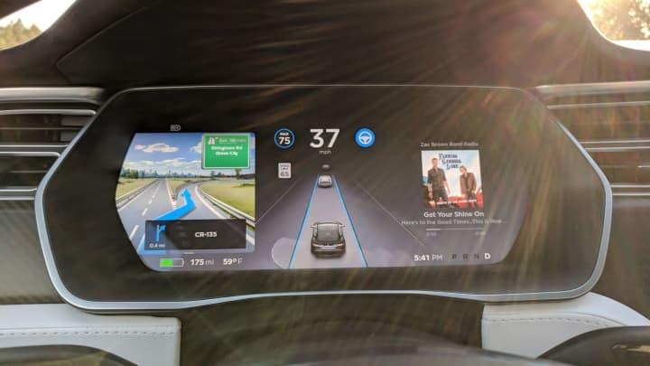 Using Autopilot during a drive to Detroit