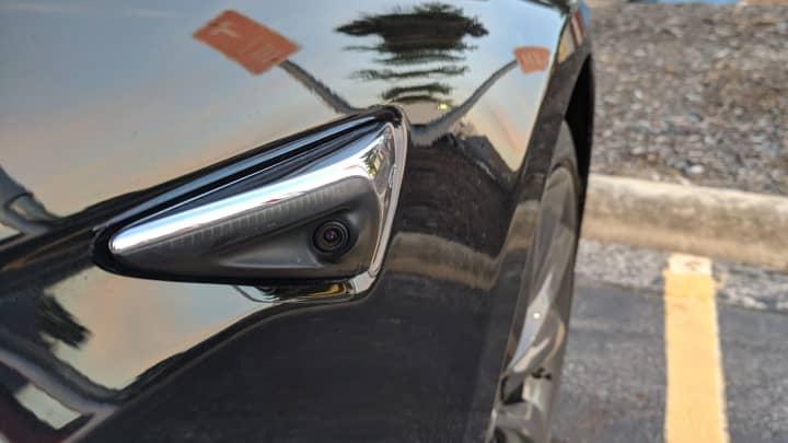 An Autopilot sensor on the Model S P100D