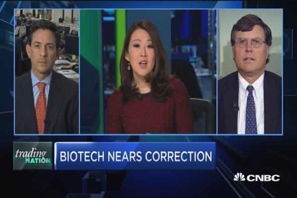 Trading Nation: Biotech nears correction