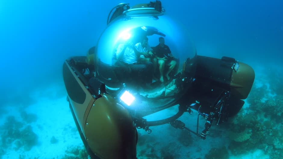 Vacation on the ocean floor in this $2.2M three-person submarine