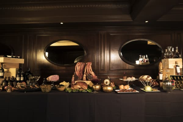 The full spread for the $76,000 Homestead Thanksgiving experience is a sight to be seen.