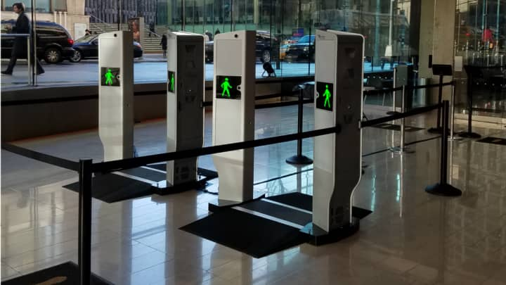 The Evolv Edge conducts 600 body scans per hour at airports, courts or other venues that need physical security.