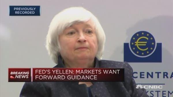 Fed's Yellen: Markets want forward guidance