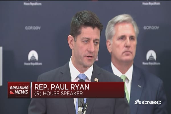 Paul Ryan: Tax bill differences to be resolved in conference