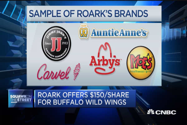 Roark Capital offers $150 per share for Buffalo Wild Wings