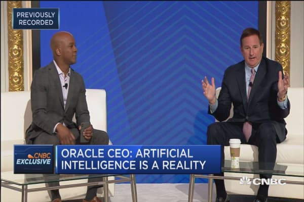 Oracle CEO: Artificial intelligence is a reality