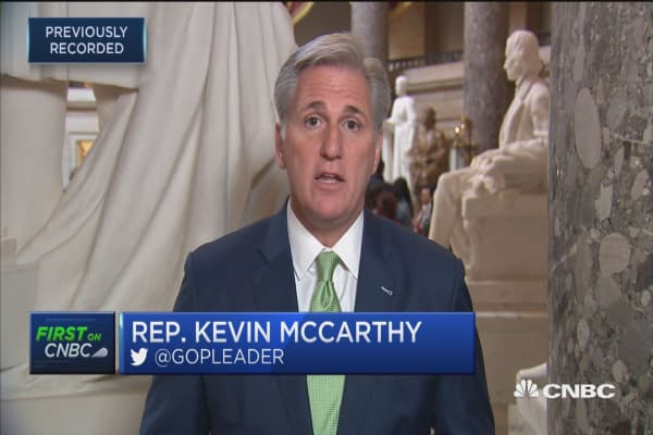 Rep. Kevin McCarthy: We should have a tax bill on president's desk in December