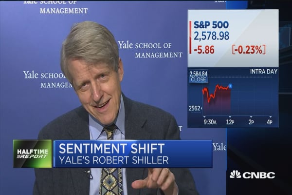 Yale's Robert Shiller: The strength of 'Trump boom' is still a factor in the market