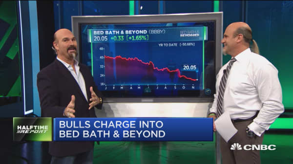 Bulls shop for under-pressure Bed Bath & Beyond, plus a trade update on a stock that popped 7%