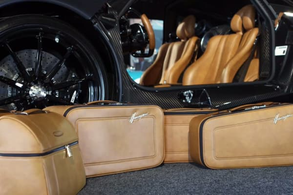 This $20,000 luggage set was made to match the leather interior