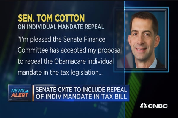 Senate Finance Committee to include repeal of individual mandate in tax bill