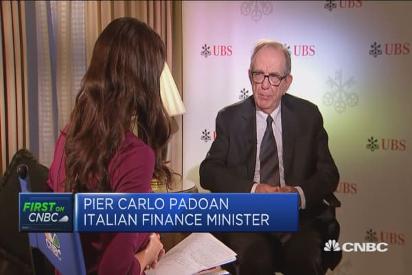 Italy has seen structural adjustments - not failure - to its banking sector: Finance minister
