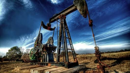 A heavy crude oil pump.