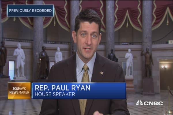 Rep. Paul Ryan: We better do what we said we would do on tax reform