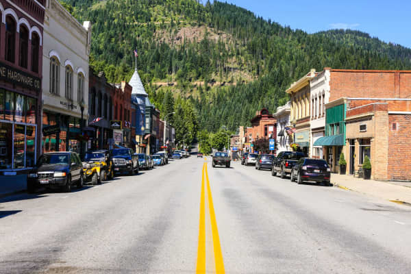 The city of Wallace, Idaho.
