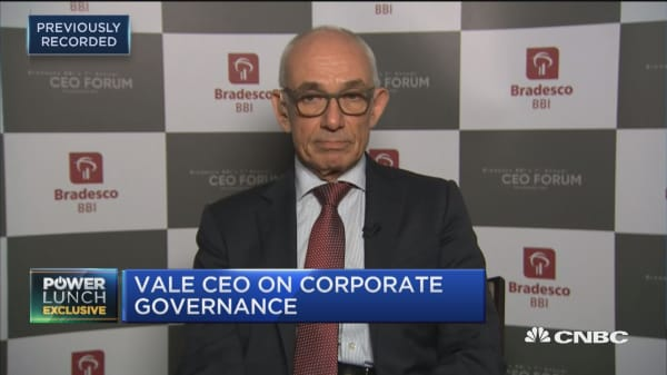 Vale CEO: We have evolved our corporate governance a lot