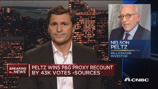 P&G pops on Trian's victory in P&G vote recount