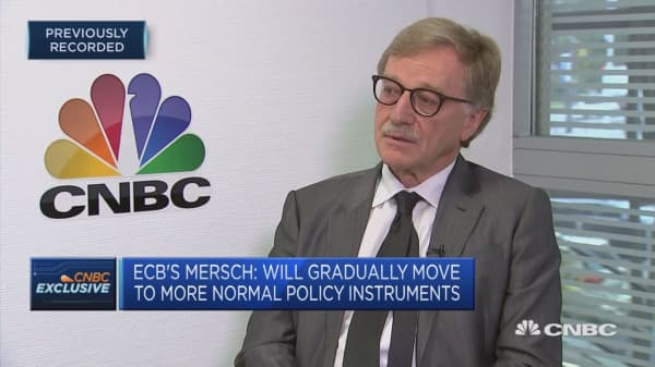 Confident we are on the right path, ECB's Mersch says