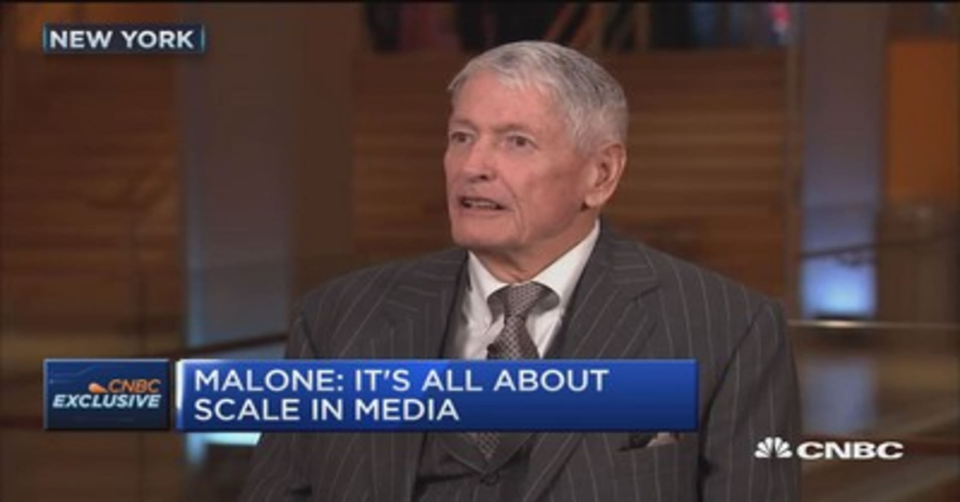 John Malone It s all about scale in media